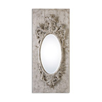 Guardia 48 X 21 inch Gray-Ivory Oval Mirror Home Decor