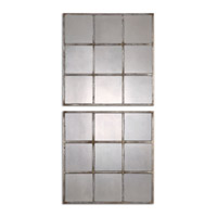 Uttermost 13935 Derowen Squares 18 X 18 inch Burnished Silver Leaf Wall Mirror