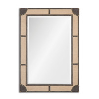 Uttermost Brennus Mirror in Brown Faux Leather 13997