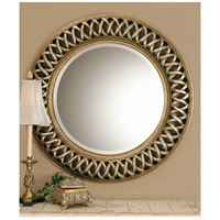 Uttermost Entwined U Mirror in Scratched Silver Center 14028-B