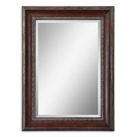 Uttermost 14197 Montrose 46 X 34 inch Distressed Dark Mahogany Wood Tone Wall Mirror thumb
