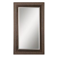 Uttermost 14209 Terenzo 72 X 42 inch Distressed Rustic Bronze Wall Mirror thumb