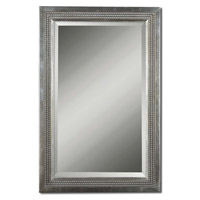 Triple Beaded Vanity 35 X 23 inch Silver Leaf With A Light Gray Glaze Mirrors Home Decor