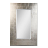 Rembrandt 56 X 36 inch Lightly Antiqued Silver Leaf Wall Mirror