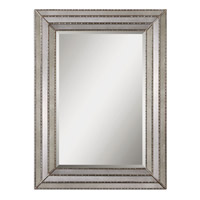 Uttermost 14465 Seymour 47 X 35 inch Antiqued Mirror Inlays Mirror Home Decor