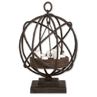 Uttermost Sammy Candleholder Home Accessory in Weathered Chestnut 17059