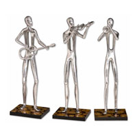 Uttermost 17074 Music Trio Polished Aluminum Statues thumb