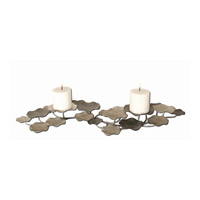 Uttermost Lying Lotus Candleholder Home Accessory in Champagne Silver And Pewter 17079