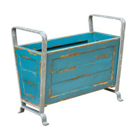 Carmelo Distressed Blue Turquoise Storage Container