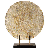 Uttermost 17500 Layan 18 inch Bright Gold and Black Marble Charger