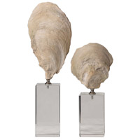 Uttermost 17523 Oyster 15 X 5 inch Shell Sculptures, Set of 2 thumb