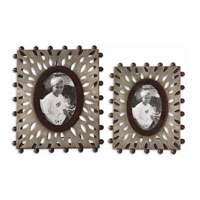 Uttermost Nanala Photo Frames Set of 2 Home Accessory in Antique Silver Leaf 18502 photo thumbnail
