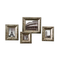 Uttermost Camber Photo Frames Set of 4 Home Accessory in Champagne Silver 18516