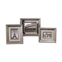 Uttermost Hasana Photo Frames Set of 3 Home Accessory in Antiqued Silver 18519