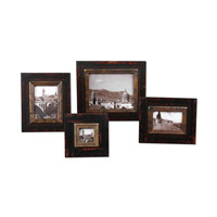 Uttermost Kitra Photo Frames Set of 4 Home Accessory in Distressed Black 18520