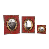 Uttermost Abeo Photo Frame Set of 3 in Burnt Red 18553