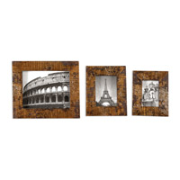 Uttermost Hema Photo Frame Set of 3 in Silver and Gold Leaf 18555