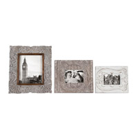 Uttermost Askan Photo Frame Set of 3 in Antique White 18556