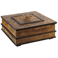 Ray 12 inch Antique Gold Leaf with Dark Bronze Accents Box