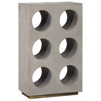Uttermost 18652 Kye Concrete with Flecked Gold Accents Wine Holder