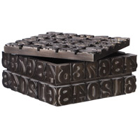 Uttermost 18654 Typesetting 11 inch Antique Bronze Decorative Box 18654_A1.jpg thumb