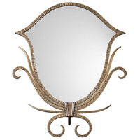 Ardit 19 X 16 inch Antiqued Metallic Gold Tabletop Mirror Home Decor
