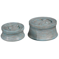 Ida Blue-Green Crackle Box, Set of 2
