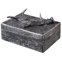 Antler Aged Black with Silver Box