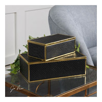 Ukti 12 inch Bright Gold Leaf Boxes