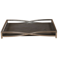 Uttermost 18845 Hima Stainless Steel with Dark Walnut Tray
