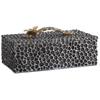 Hive 12 inch Aged Black with Pewter Highlights Decorative Box