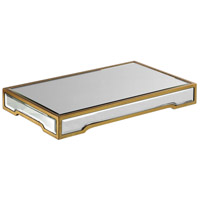 Carly Bright Gold Leaf Tray