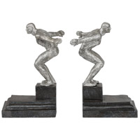 Endurance 10 inch Silver Bookends, Set of 2