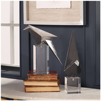 Uttermost 18993 Origami Bird Silver Leaf and Clear Crystal Figurines, Set of 2 alternative photo thumbnail
