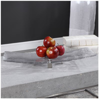 Uttermost 18997 Mika Clear Art Glass and Brushed Nickel Tray 18997_Lifestyle.jpg thumb
