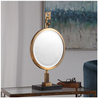 Uttermost 18999 Nori Brushed Bronze and Black Marble Tabletop Mirror 18999_Lifestyle.jpg thumb