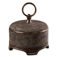 Uttermost 19022 Aubriana 11 inch Distressed Burnished Wash Box