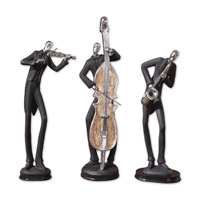 Uttermost Musicians Accessories Set of 3 Home Accessory in Slate Gray 19061