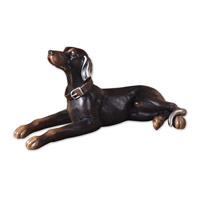 Uttermost Resting Dog Statue Home Accessory in Aged Black 19070