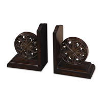 Uttermost Chakra Bookends Set of 2 Home Accessory in Distressed Chestnut Brown 19251