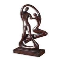 Uttermost Ballroom Dancers Statue Home Accessory in Distressed Chestnut Brown 19279