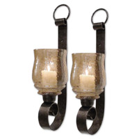 Uttermost Joselyn Small Wall Sconces Set of 2 Home Accessory in Antiqued Bronze Metal 19311