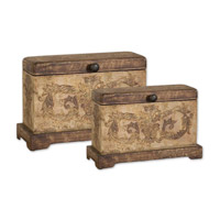 Uttermost Scotty Boxes Set of 2 Home Accessory in Plantation Grown Mango Wood 19319