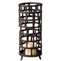 Uttermost Arig Candleholder Home Accessory in Distressed Aged Black 19368