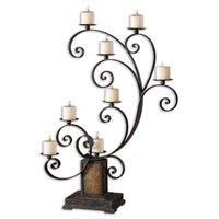 Uttermost Kara Candelabra Home Accessory in Heavily Textured Aged Black 19395