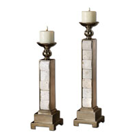 Uttermost 19425 Travertine 22 X 5 inch Candleholders thumb