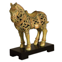 Uttermost 19456 Small Chunar Horse 14 X 13 inch Sculpture thumb