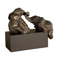 Uttermost Playful Pachyderms Home Accessory in Antique Bronze Patina 19473