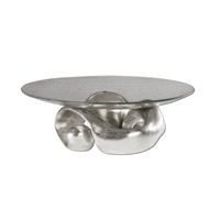 Uttermost Entwined Bowl Home Accessory in Lightly Champagned Silver Leaf 19484