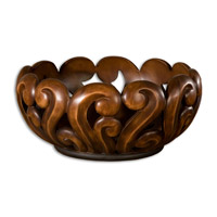 Uttermost Merida Bowl Home Accessory in Warm Wood Tone 19493
